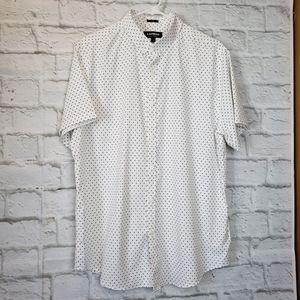 Express Short-sleeve Button Down Shirt Men's Large